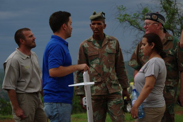 South African National Defense Forces fly UAVs at Mozambique Border