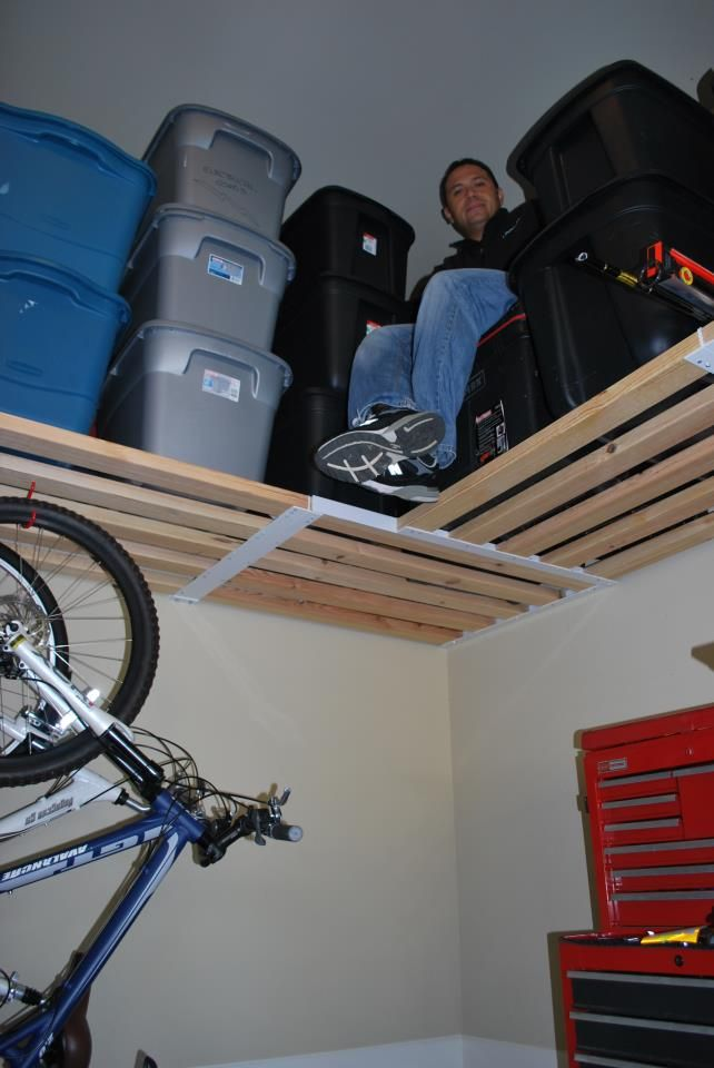 """One of our employees """"stuck"""" up on some garage shelving at an customer's home!"""