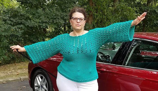 Zręczne ręce: Szafirowa bluzeczka