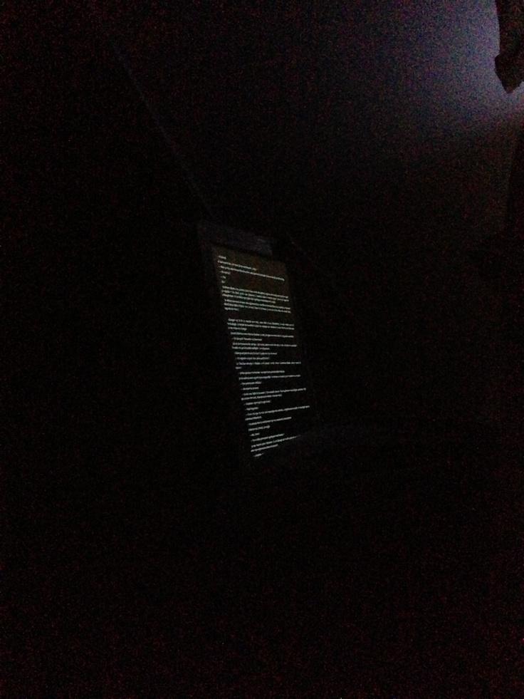 Read in the dark