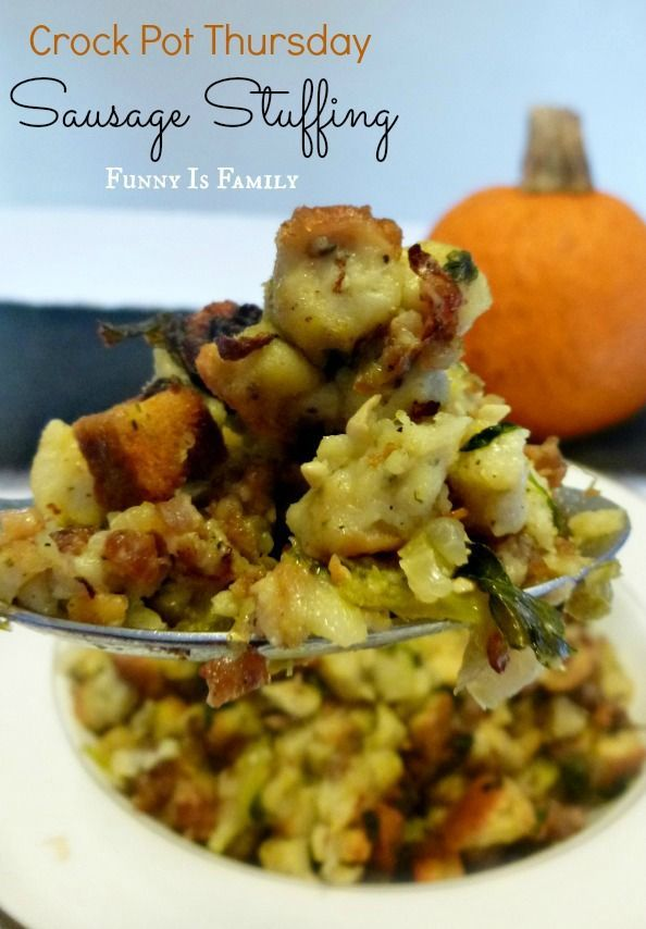 This Crock Pot Sausage Stuffing will put all of the other Thanksgiving side dishes to shame! Try this recipe with Johnsonville Sausage!