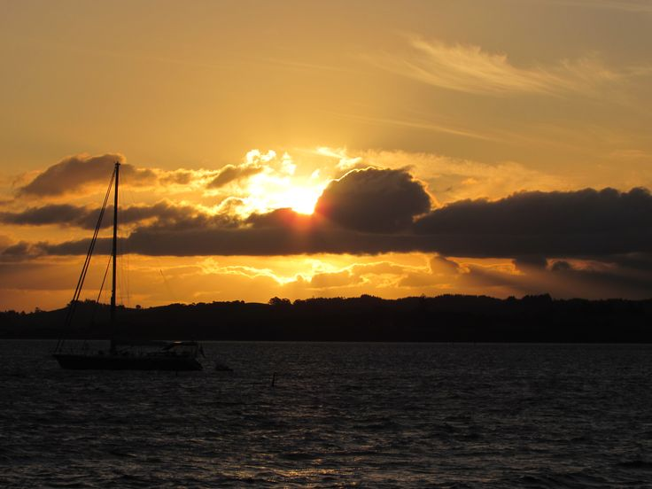 Sunset at Russell, Bay of Islands, New Zealand. Photo by Sally Williams