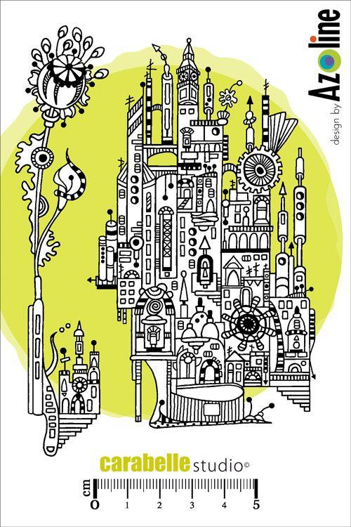 Tampon : Ville d'ailleurs : URBANIA par Azoline - Art Stamp