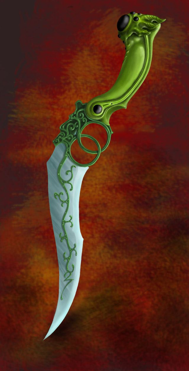 Elven knife by DreddaBrutallac on DeviantArt