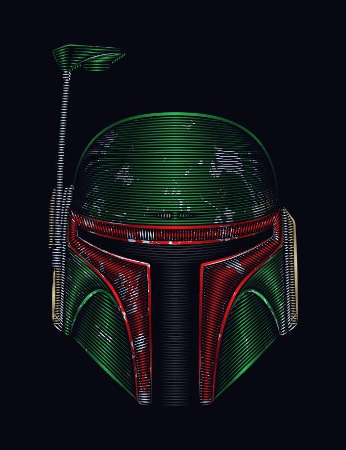 Star . Wars - Boba Fett Art Print by Nathan Owens