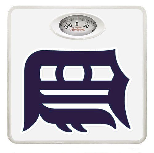 New White Dial Bathroom Weight Scale featuring Detroit Tigers MLB Team Logo ** Visit the image link more details.
