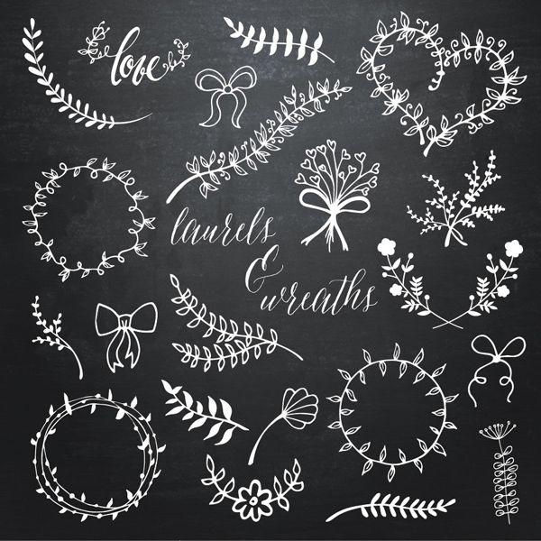 Laurel & Wreaths Doodle Overlays