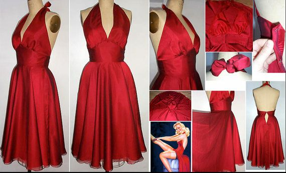 Dreamy Marilyn Chiffon Overlay on Satin Dress Full by pinkpurr, $239.00