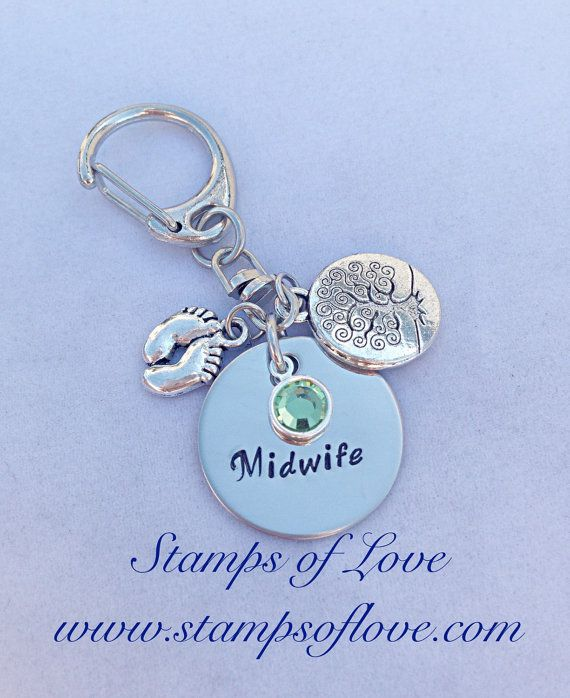 Midwife Gift Key Chain Natural Mothers by StampsofLove4 on Etsy