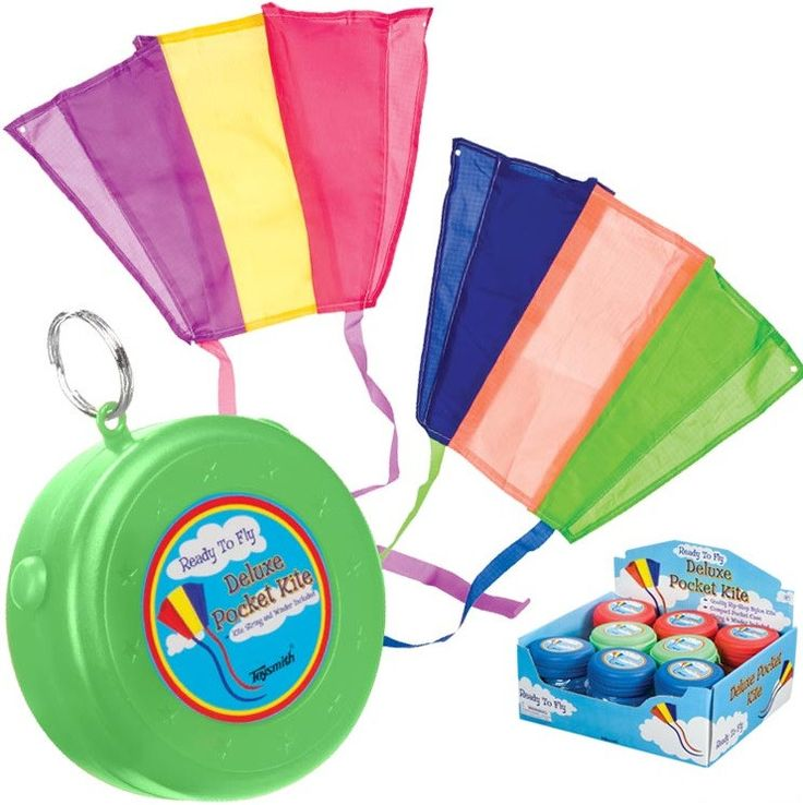 "What a fun item! Carry with you and open on a breezy day to fly a kite! Store the rip-stop nylon kite inside the hard plastic 3 1/4 inch zippered case. Kite unfolds to 18"" x 12"" with two 29"" tails and"