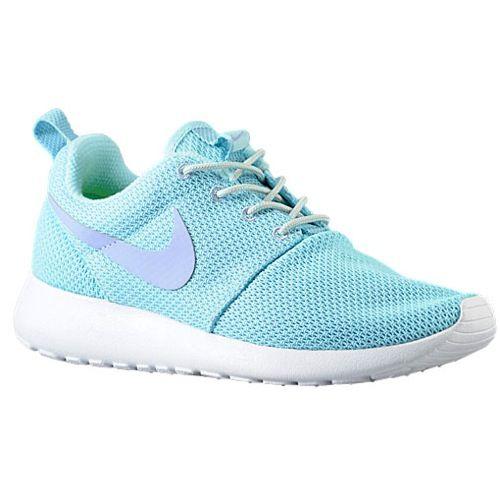 Nike Roshe Run - Women's - Running - Shoes - Glacier Ice/Light Base Grey/White/Purple Fade