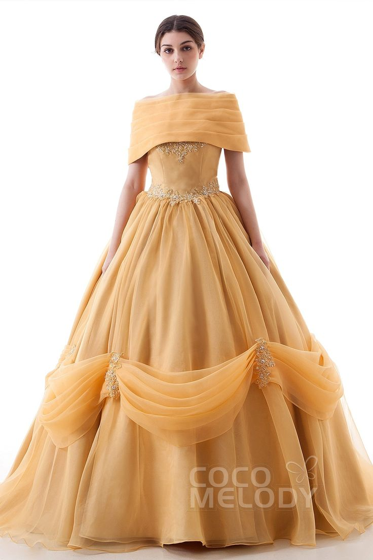 Cute Perfect Princess Off The Shoulder Natural Chapel Train Satin and Organza Short Sleeve Lace Up Corset Wedding Dress with Appliques and Beading LD