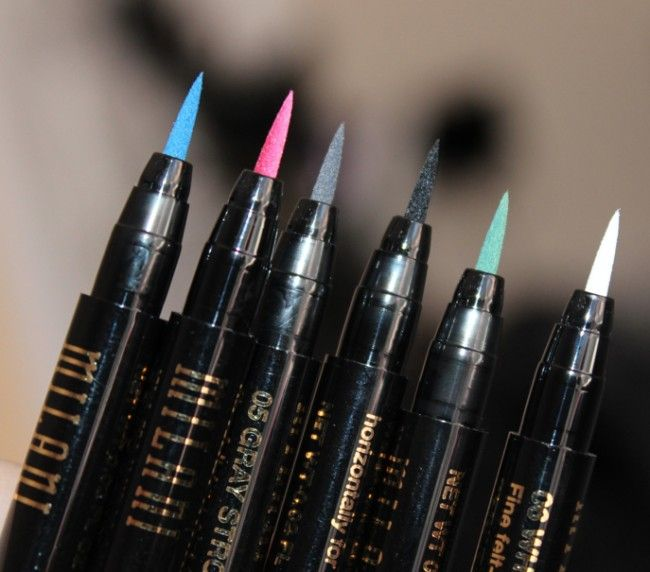 .....Oh how I ♥♥♥ over the top colorful eye liner! Milani