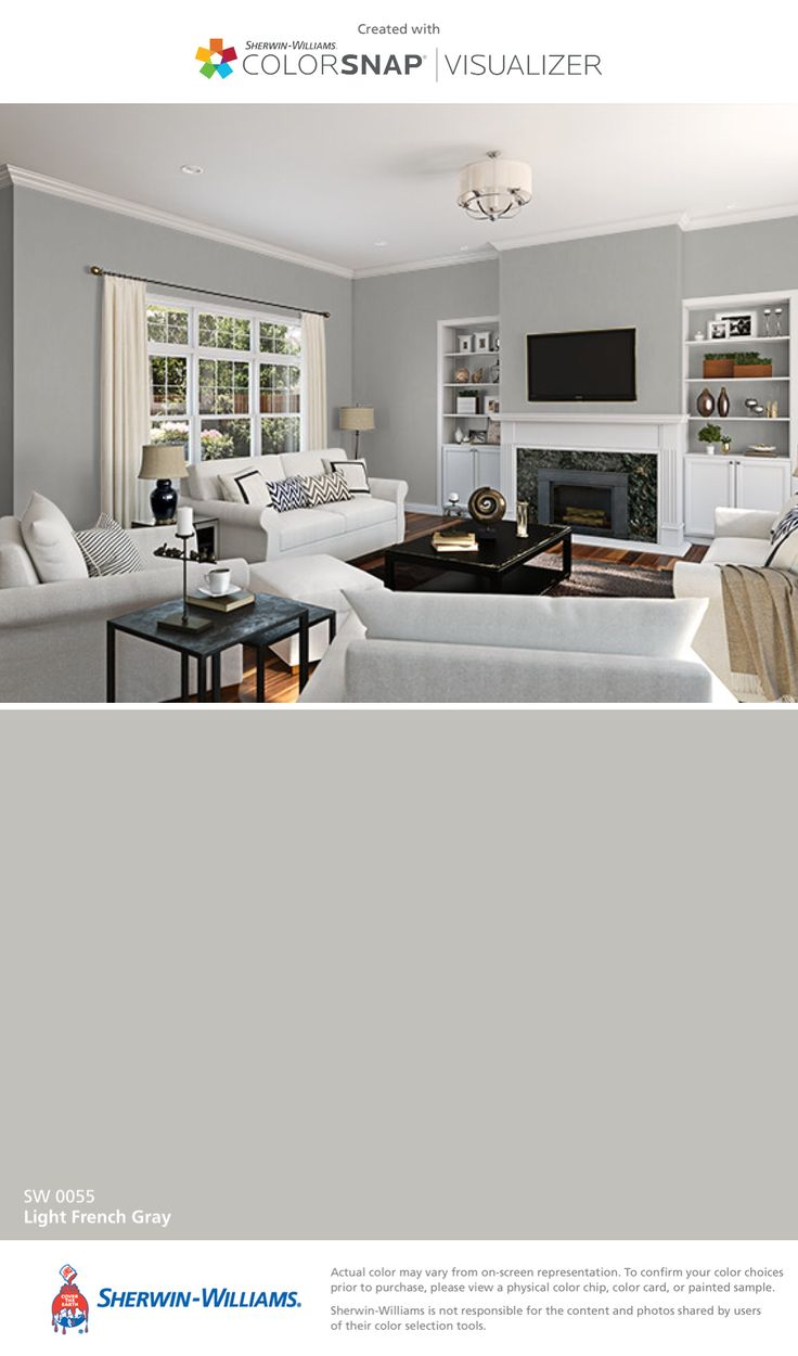 I found this color with ColorSnap® Visualizer for iPhone by Sherwin-Williams: Light French Gray (SW 0055).