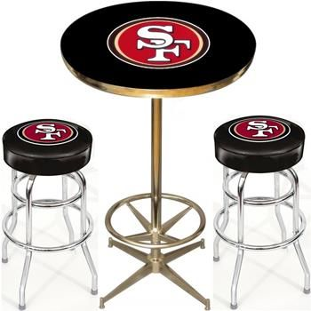 San Francisco 49ers Pub Table Set Pittsburgh Steelers Man Cave San Francisco 49ers 49ers