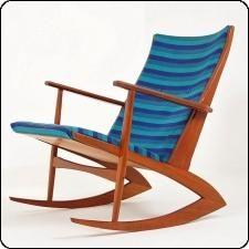 Located using retrostart.com > Rocking Chair by Georg Jensen for Tønder Møbelfabrik
