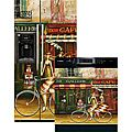 Appliance Art 'Girlfriends in Paris' Dishwasher and Refrigerator Cover Combo | Overstock.com