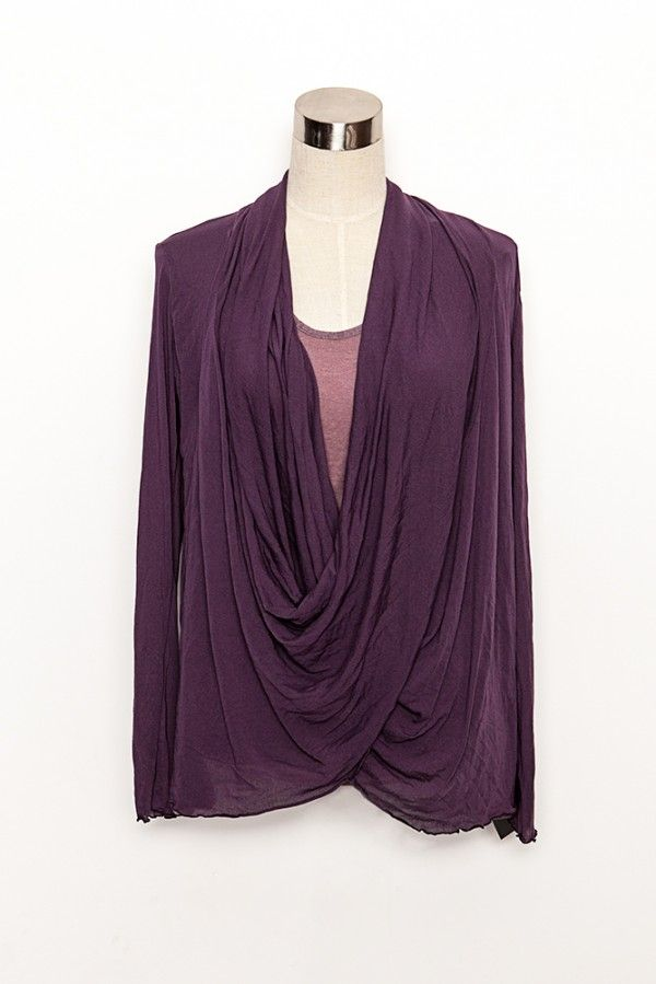 Vigorella Long Sleeved Twist Front Top from Picsity.com $79.95