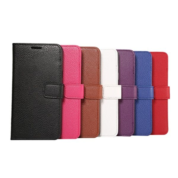 Magnetic Clasp Litchi Grain Leather Case For Samsung Galaxy Note 5