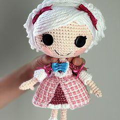 Lalaloopsy Suzette La muñeca patrón de crochet amigurumi dulce de épica Kawaii