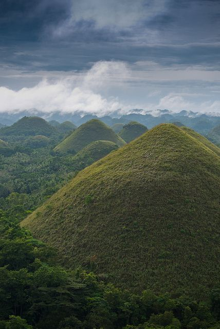 Famous Chocolate Hills in Bohol - Visayas, Philippines. (recent ground penetrating radar has shown these to be Pyramids covered in vegetation. A very similar scenario to the 3 Pyramids discovered in Bosnia, covered in the same type of vegetation. Coincidence or deliberately hidden?)