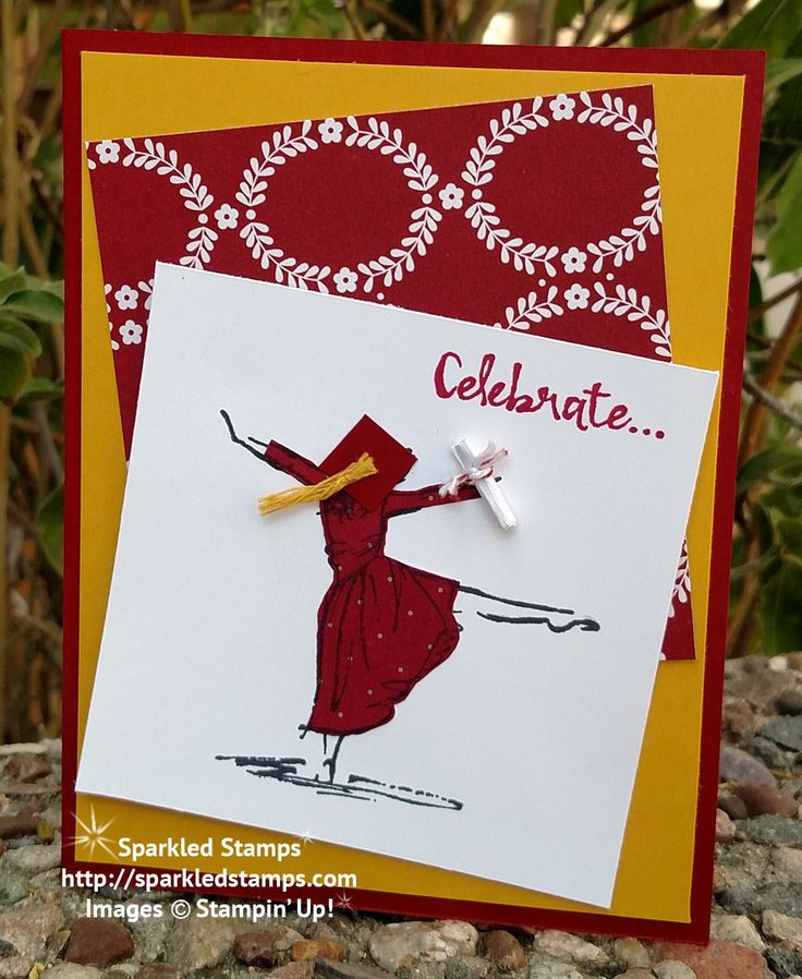 Graduation card using Beautiful You by Stampin' Up! | Sparkled Stamps