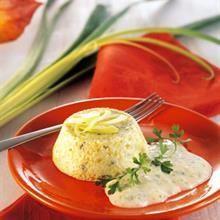 Sformatini di porri con salsa al gorgonzola - Ricetta