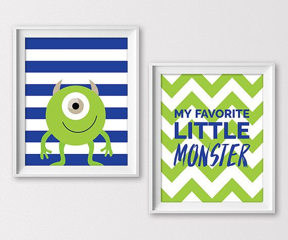 Monster Nursery Prints Monster Wall Art Boys by ClaresPrintables