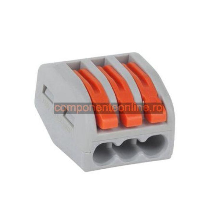Terminal universal pentru cabluri, 3 pini, 0,75-2,5mm - 402540