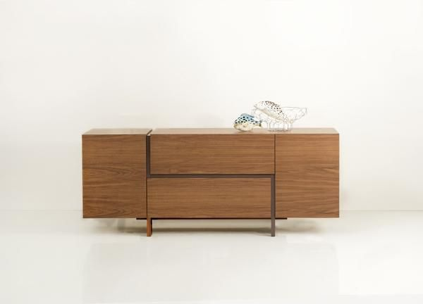 ELEVEN  Buffet in oak, walnut or lacquered wood.Οptions in measures and colours.