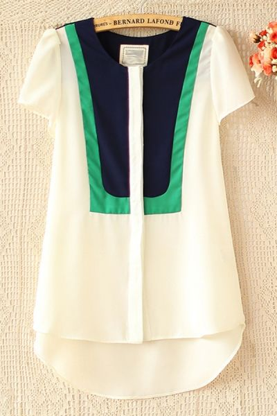 Navy + Kelly., blusas, shirt, white and blue, white and green, blanco con verde, blanco con azul, blanco, white,
