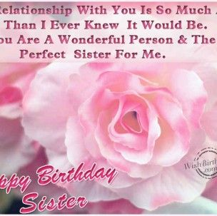 birthday greetings for sister images