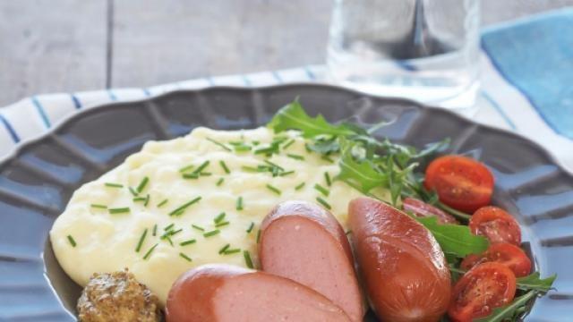 Oppskrift på Potetpuré og middagspølser