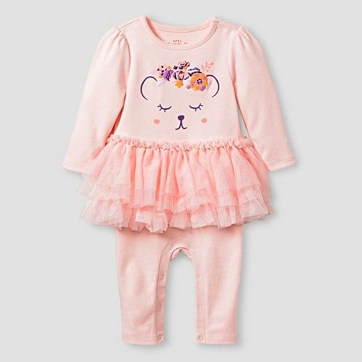 The Baby Girls' Long-Sleeve Tutu Coverall by Cat & Jack Baby™ is perfect for playing, dressing up and adventuring. This sweet one-piece outfit is baby and parent friendly with smart details that make dressing and changing a snap. Plus, it's all guaranteed. Cat & Jack is made to last, but if anything doesn't, you can return it up to 1 year later with your receipt.
