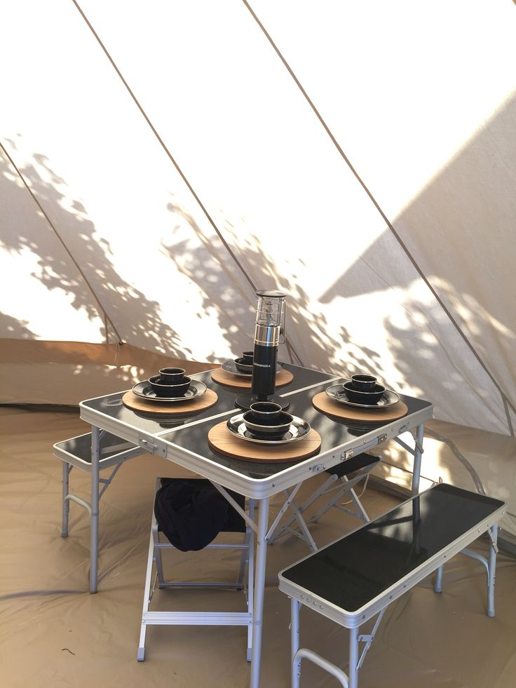This is our bell tent! Almost jones is going camping!