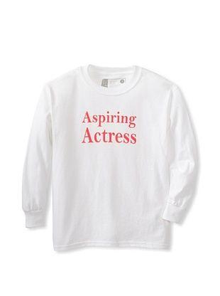 64% OFF Little Dilascia Kid's Aspiring Actress Long Sleeve Tee (White)