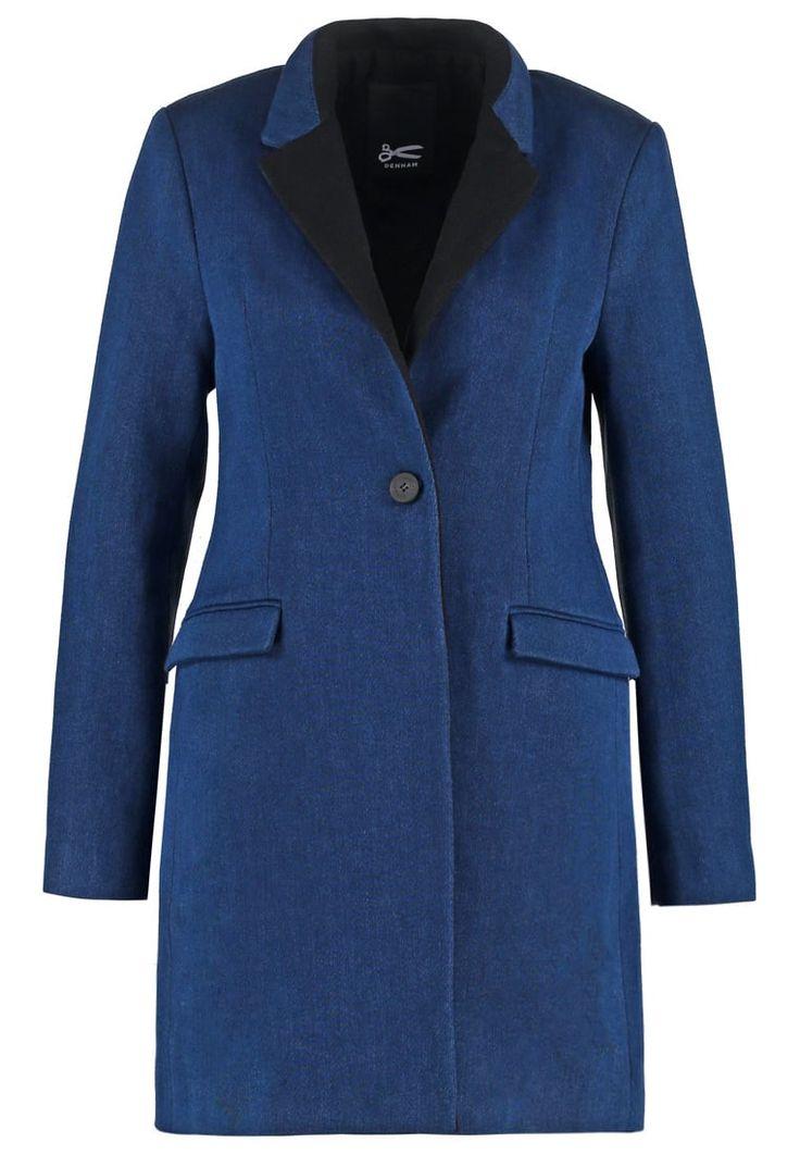 Denham Krótki płaszcz indigo