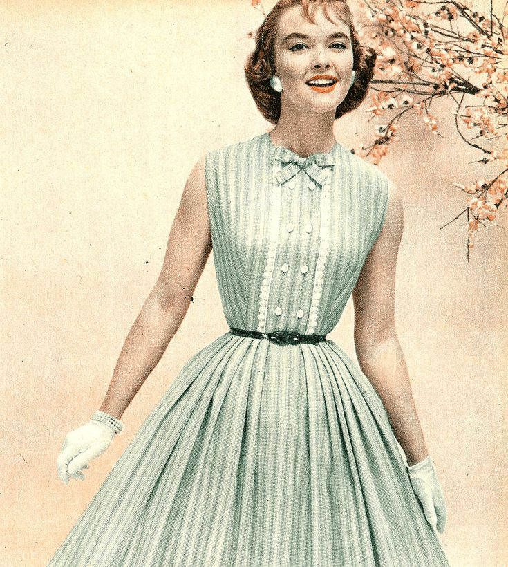 Dress style 1950s 2 level