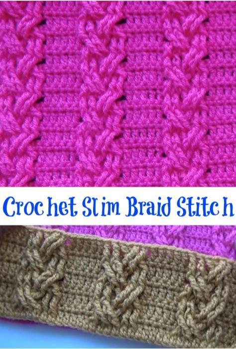 crochet slim braid stitch | tursison crochet board | Pinterest