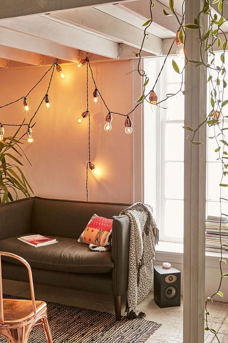 Metal Cap String Lights - Urban Outfitters #UOonCampus