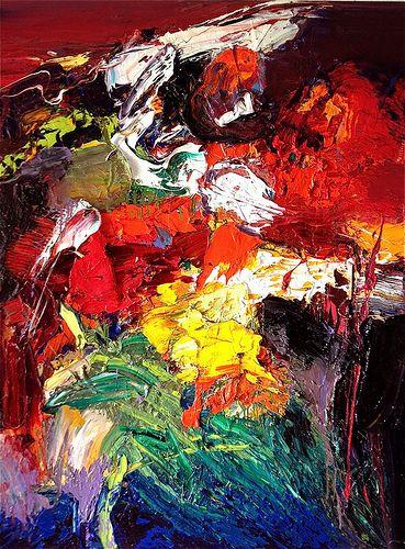 Le Crepuscule Des Dieux Art Abstract Painting