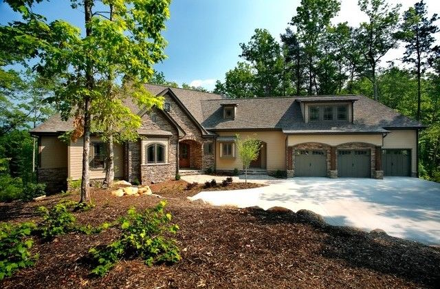 Exterior Of Custom Home Built By American Eagle Builders