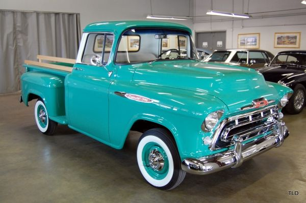 WANT! I learned to drive in '56 at the age of .....8? 1957 Chevy 3100