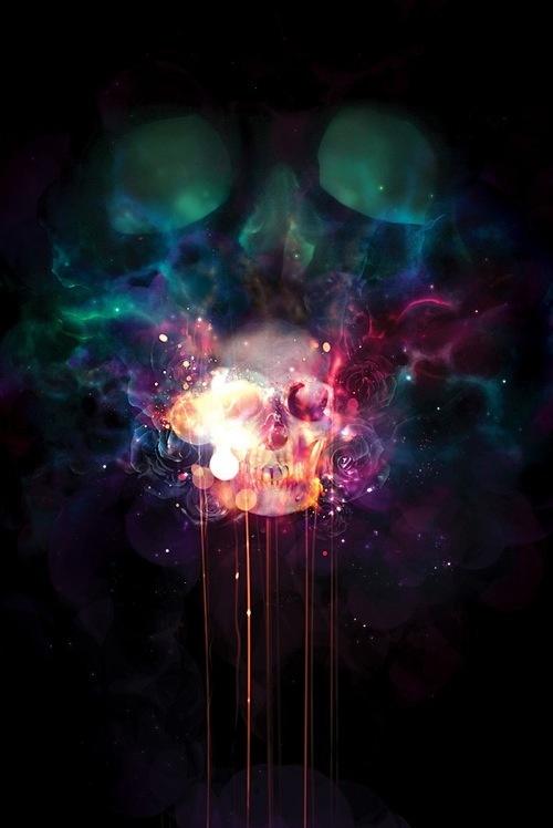 Trav'Lin Lights, Art Prints, Chuck Anderson, Northern Lights, Graphics Design, Black Lights, Bright Lights, Dark Lights, Skull Art