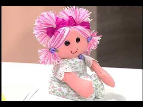 Artesanato - Boneca de tecido