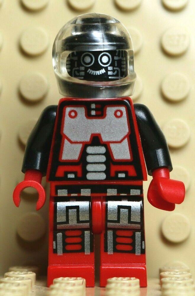 LEGO RED SPYRIUS DROID MINIFIG SPACE ROBOT GENUINE FIG