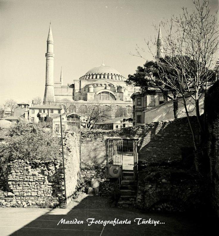 1940..Ayasofya. Hagia Sophia, İstanbul, Turkey, 1940.