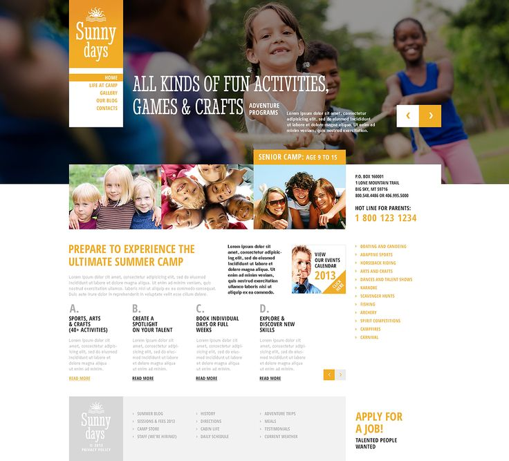Summer Camp #Wordpress #template. #themes #business #responsive #Wordpressthemes