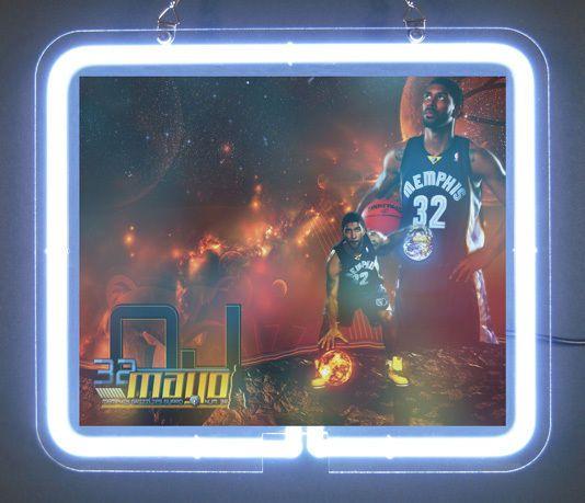 Memphis Grizzlies Oj Mayo 32  Neon Light Sign