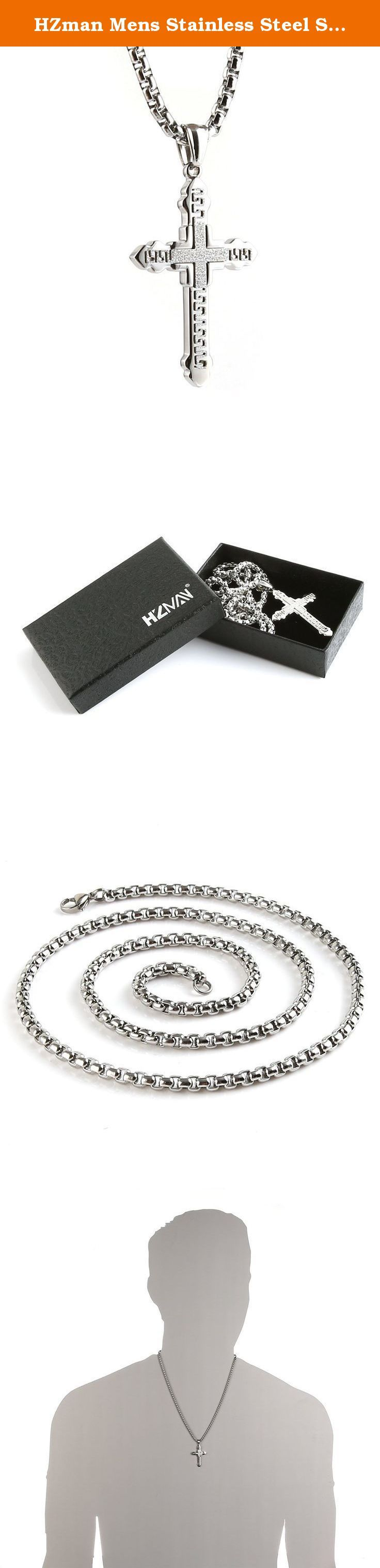 HZman Mens Stainless Steel Silver Tone Greek Key Cross Pendant Necklace Rolo Cable Wheat Chain. 30 DAY MONEY BACK GUARANTEE-100% satisfaction guaranteed. That is our promise. So, if you're not completely happy with your purchase within the first 30 days, just let us know. We will do whatever it takes to make it right Provide The Best Quality jewelry and Customer Service on Amazon. Why choose Stainless Steel Jewelry? Stainless Steel jewelry does not tarnish and oxidize, which can last…